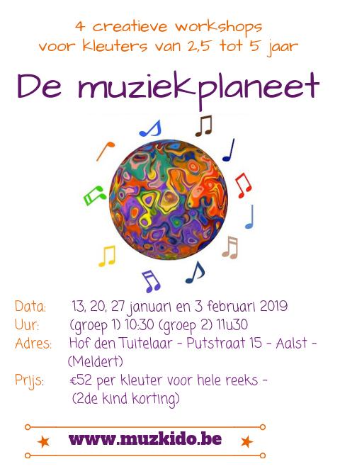 Muziekplaneet flyer Aalst